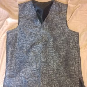 Black/Silver vest with shapes